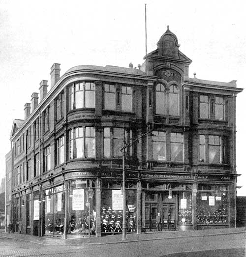 Central Tailoring Department, Burnt Down 1902
