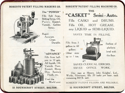 Roberts' Patent Filling Machines