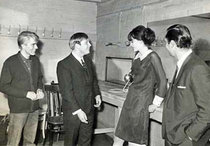 Vic and Bert with Adam Faith and Sandie Shaw