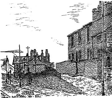 Cottages and The Stags Head Pub, 'Dobble' 1907