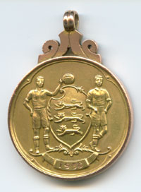 Hartle FA Cup winners medal 1958 back