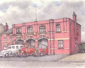 Farnworth fire station, Albert Road