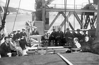 VJ Day on deck at Durban, South Africa