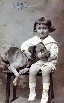 George and friend in 1923
